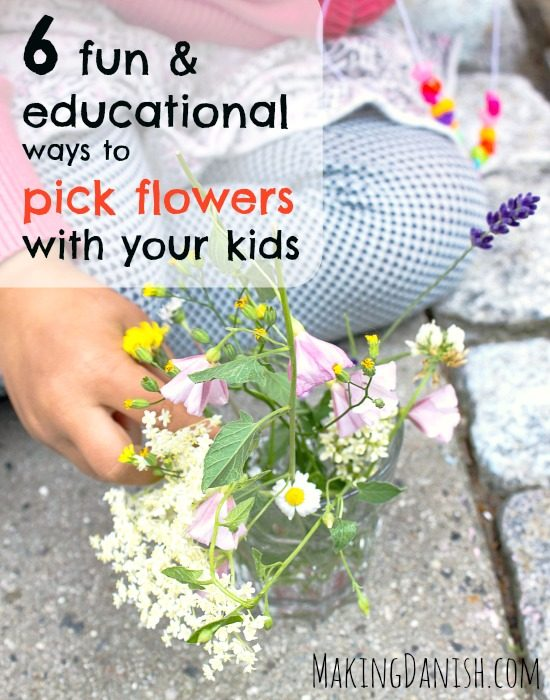 Fun and educational ways to pick flowers with your kids
