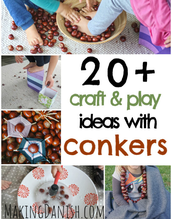easy crafts and play ideas with conkers