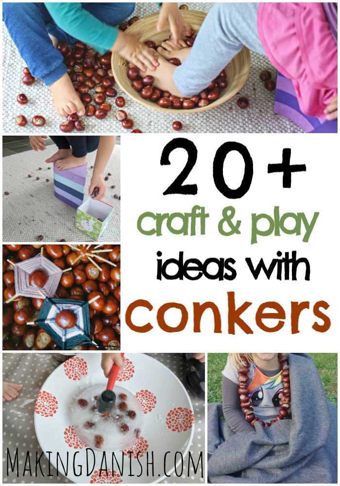 20 + crafts play ideas with conkers autumn fall crafts